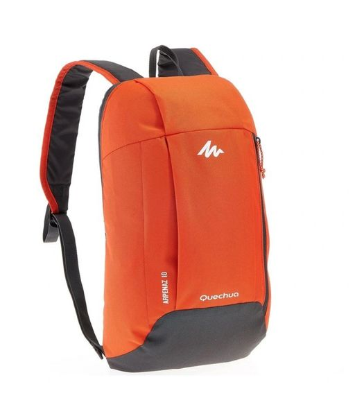 QUECHUA Mini Laptop Bag 10 Liter- Red/Black