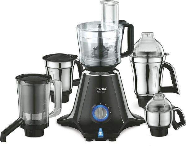 Preethi Zodiac MG 218 750-Watt Mixer Grinder with 5 Jars Black