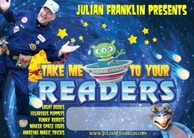 Maker Space instruction idea for Texas elementary school brings in Julian Franklin central Texas author with magic puppets and robot building instruction