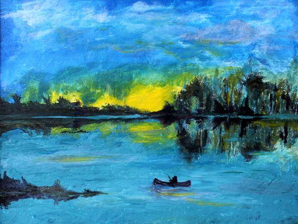 "18x24"" Canoe print"
