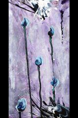 "12x18"" Blue Tulips print"
