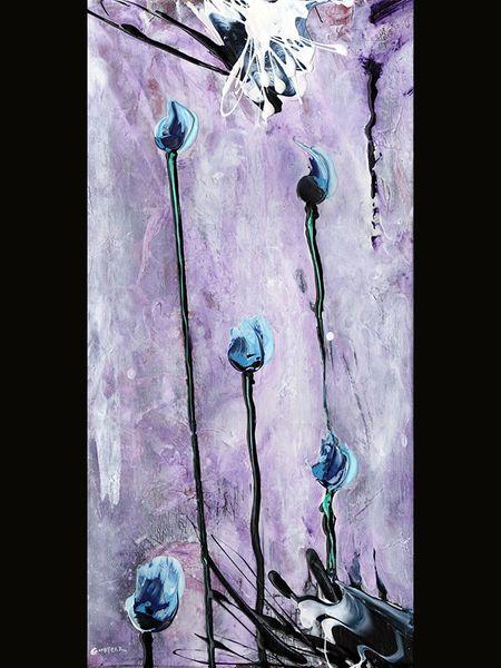 """Blue Tulips"" print"