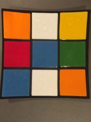 Rubik's Cube Themed Dinner Plate 1