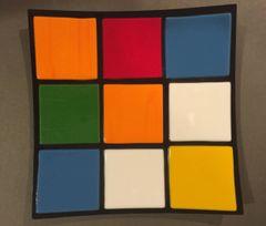 Rubik's Cube Themed Dinner Plate 2