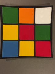 Rubik's Cube Themed Dinner Plate 3
