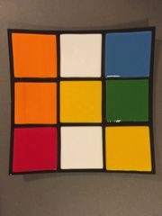 Rubik's Cube Themed Dinner Plate 4