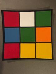 Rubik's Cube Themed Dinner Plate 6