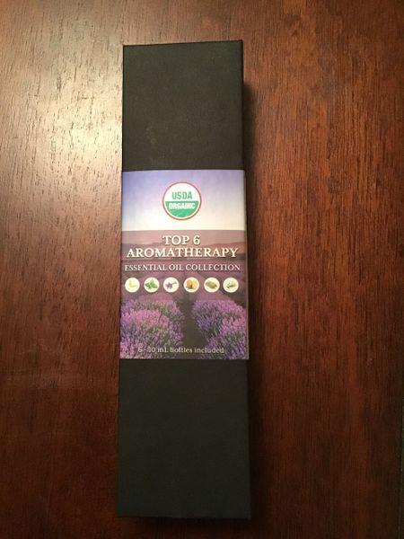 Organic essential oil 6 pack, 10 ml each. orange, tea tree, lavender, eucalyptus, peppermint , lemongrass