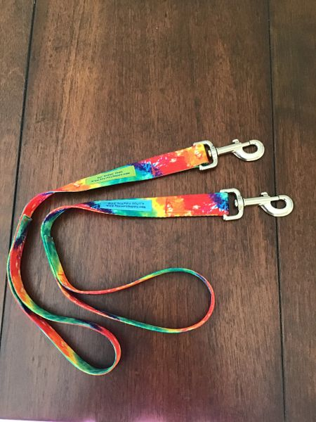 Rainbow Tie Die training Dog leash 20 inches