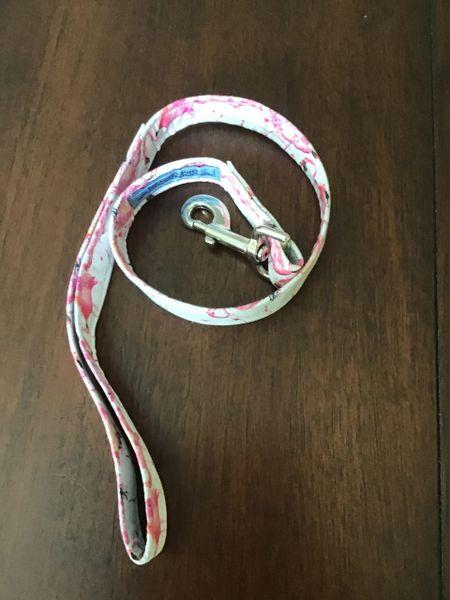 "Short trainer dog leash 30"" flamingo"