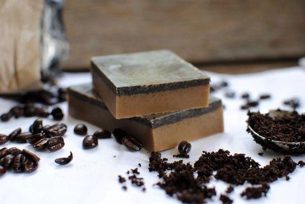 Coffee Oatmeal Soap Large 8 to 9 Oz Bar