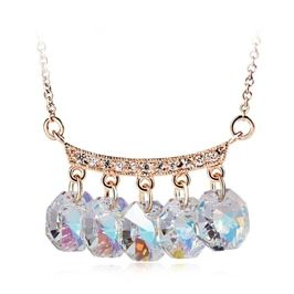 Fashion Party Gold Plated Bling Windbell Necklace Made With Crystals From Swarovski