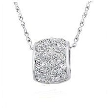 Fashionable Alloy Necklace Made With Crystals From Swarovski
