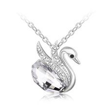 Swan Crystal Necklace Made with Crystals From Swarovski