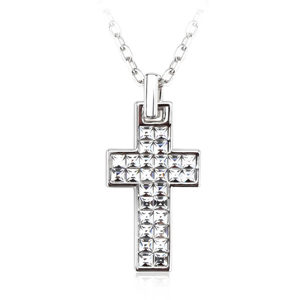 Cross Pendant Made With Crystals From Swarovski