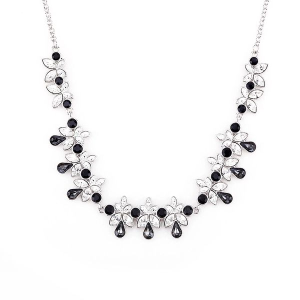 Classic Black Necklace Made With Crystals From Swarovski