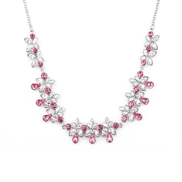 Classic Red Necklace Made With Crystals From Swarovski