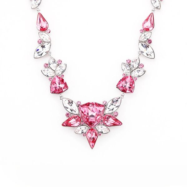 Red Necklace Made With Crystals From Swarovski