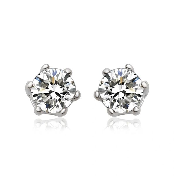 925 Sterling Silver Earrings Stud Made With Crystals From Swarovski