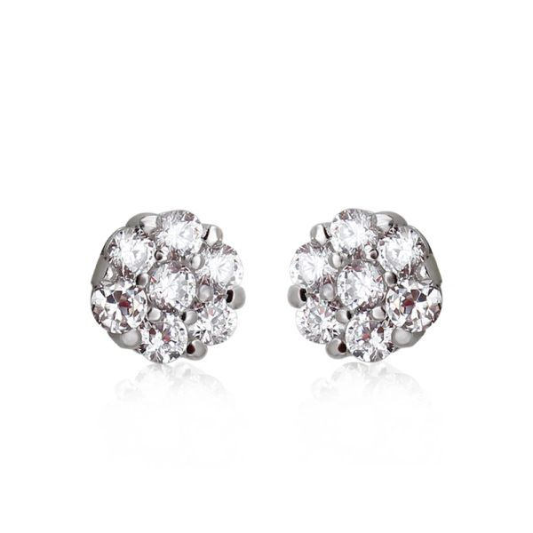 925 Sterling Silver Crystal Ball Earrings Made With Crystals From Swarovski