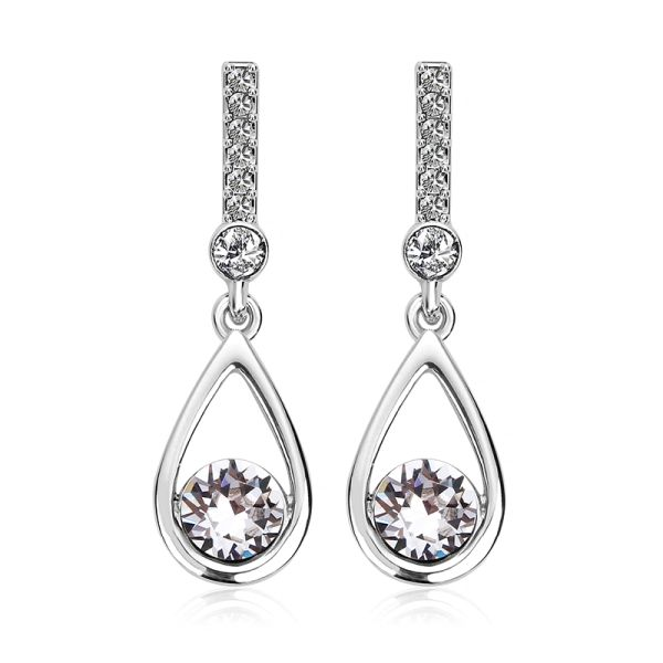 Top Quality Fashion Earrings Made With Crystals From Swarovski