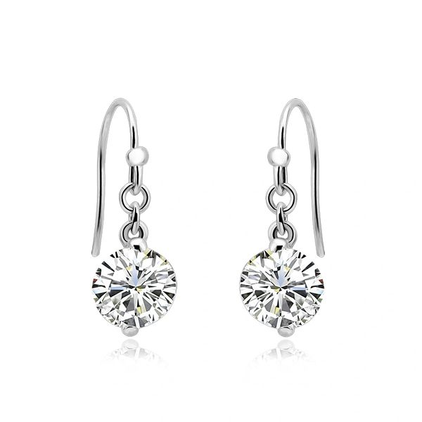 925 Sterling Silver Drop Earrings Made With Crystals From Swarovski