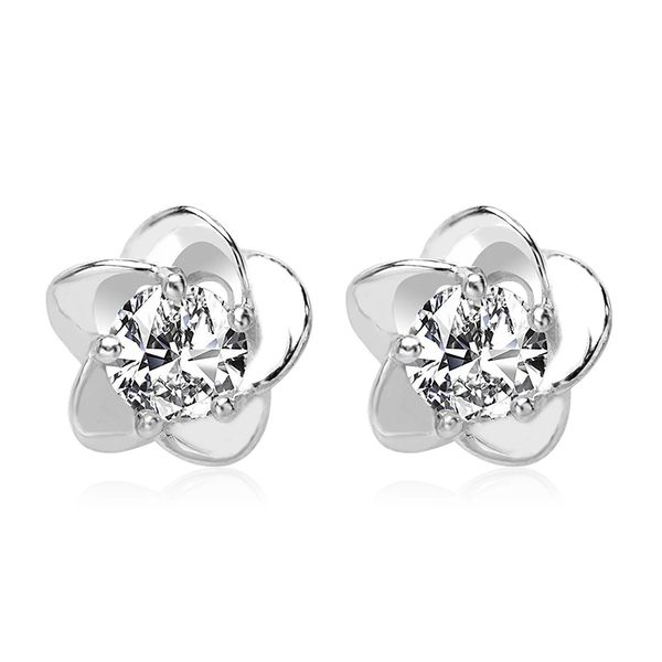 925 Sterling Silver Stud Earrings Made With Crystals From Swarovski
