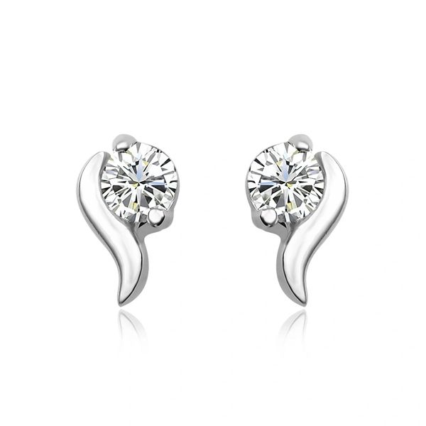 925 Sterling Silver Raindrop Stud Earrings Made With Crystals from Swarovski