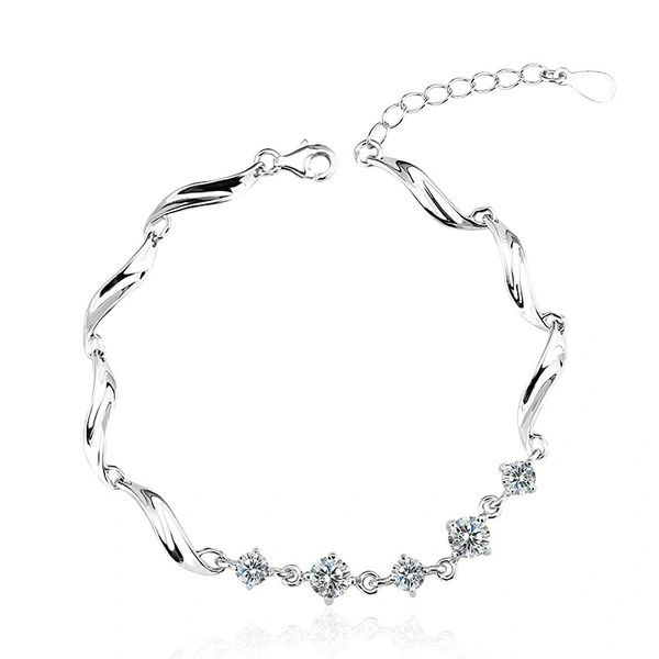 925 Silver Bracelet Made With Crystals From Swarovski