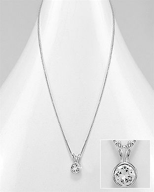 925 Sterling Silver Necklace Made With Verifiable Authentic Swarovski Crystals