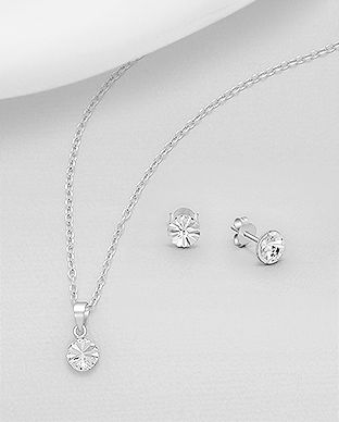 925 Sterling Silver Set Made With Verifiable Authentic Swarovski Crystals