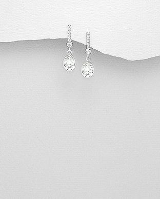 925 Sterling Silver Earrings Made With Verifiable Authentic Swarovski Crystals