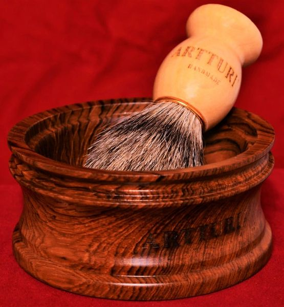 Premium Shave Bowl Pure Teak The Haskel By ARTTURI™