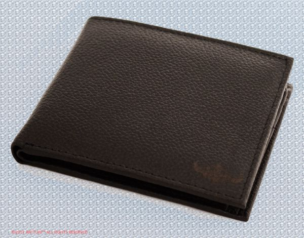 Men's Wallet Black 100% Leather Calfskin by ARTTURI™