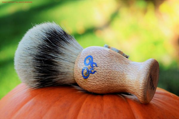 Shave Brush The Leopardwood Double Swirl by ARTTURI™