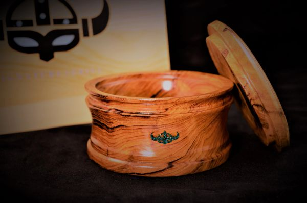 Shave Bowl African Walnut with Malachite Inlay A Signature Series Collection by ARTTURI™