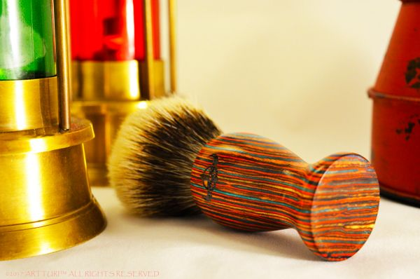 Full Gift Set Silver Tip Badger Shave Brush The ARTTURI™ Pakkawood