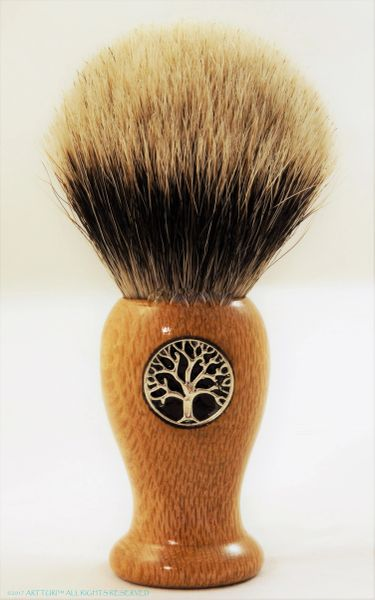 Silvertip Badger Shave Brush Tree Of Life by ARTTURI (customize it!)