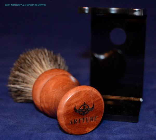 Shave Brush 100% Best Badger Mango Wood 'The Take Along' by ARTTURI™