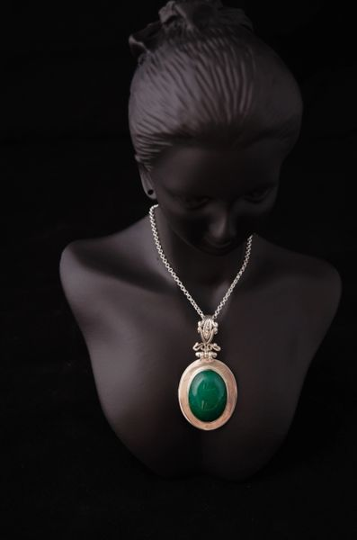 Green Aventurine In Sterling Silver