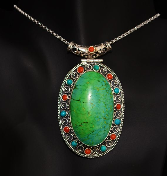 Signature Series Coral Turquoise Pendant by ARTTURI™ (SOLD!)