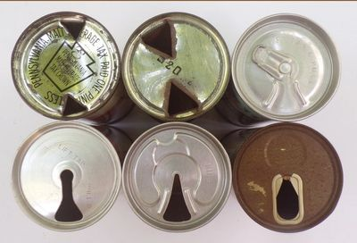 Treasure or Trash? If the tops of your beer cans look like these they are likely to have value.