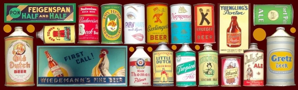 We buy old antique beer cans, cone tops, flat tops and zip tab cans from all breweries and countries