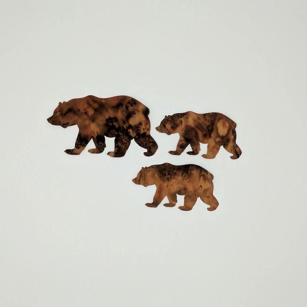 Bear and Cubs, Laser Cut 3 pc applique set