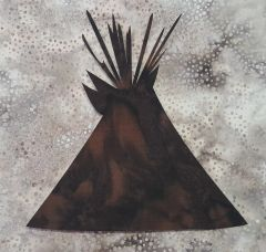 Teepee, Laser Cut Applique