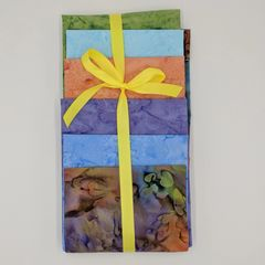 Rainbow Mix 6- 1/2 Yard Cuts of Coordinating Fabrics, 100% Cotton