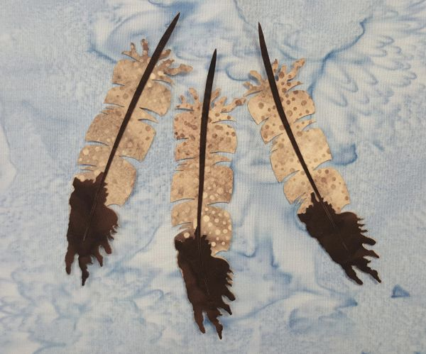 Feathers, Laser Cut Applique, 3 pc set