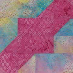 Square Dance Laser Cut Quilt Kit, Pink and Pastel Dot Laser Cut Quilt Kit