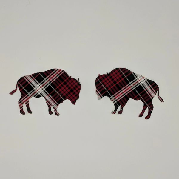 Buffalo, Pre-fused and Laser Cut Applique Embellishment