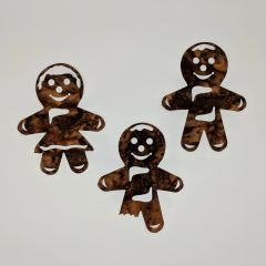 Gingerbread Boys and Girl Pre-Fused and Laser Cut Appliques